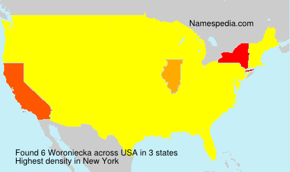 Surname Woroniecka in USA