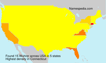 Surname Wuhrer in USA