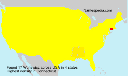 Surname Wujtewicz in USA