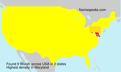Surname Wurah in USA