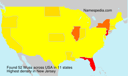 Surname Wuss in USA