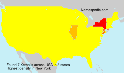 Surname Xethalis in USA