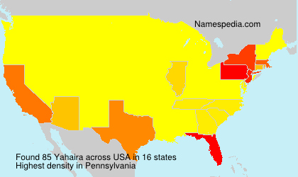 Surname Yahaira in USA