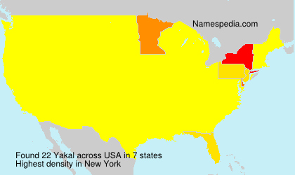 Surname Yakal in USA