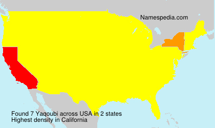 Surname Yaqoubi in USA
