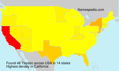 Surname Yazdan in USA