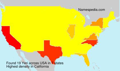 Familiennamen Yeri - USA