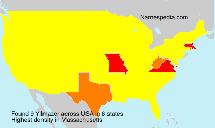 Surname Yilmazer in USA