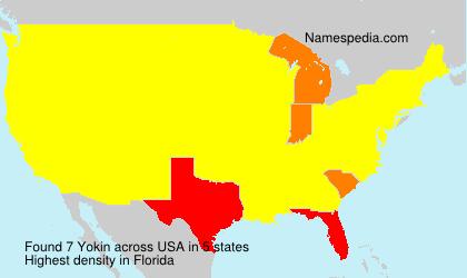 Familiennamen Yokin - USA