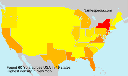 Surname Yola in USA