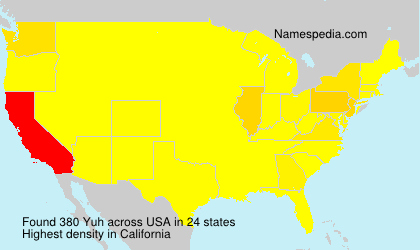 Surname Yuh in USA