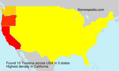 Surname Yurdana in USA