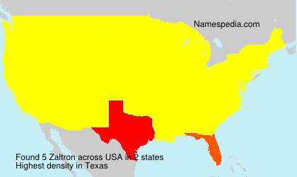 Familiennamen Zaltron - USA