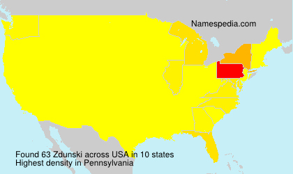 Surname Zdunski in USA