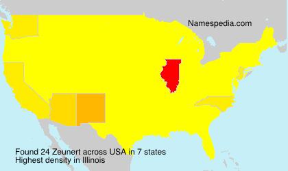 Familiennamen Zeunert - USA