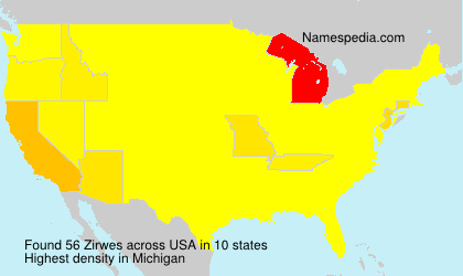 Surname Zirwes in USA