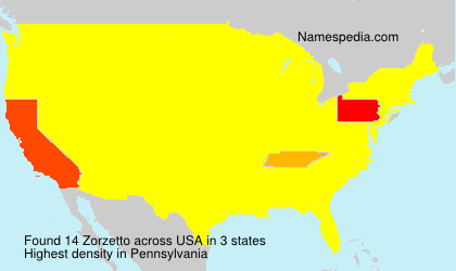 Surname Zorzetto in USA