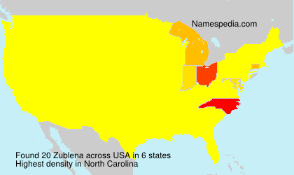 Surname Zublena in USA