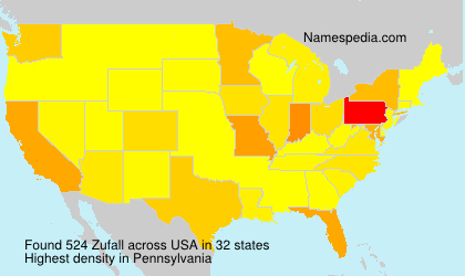 Surname Zufall in USA