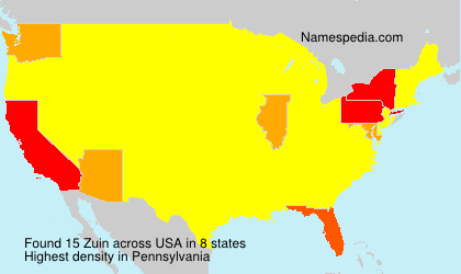 Surname Zuin in USA