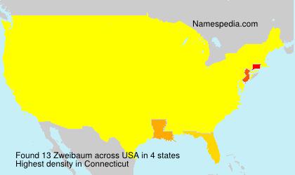 Surname Zweibaum in USA