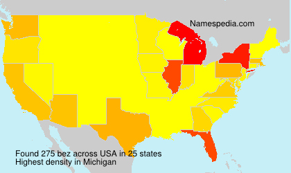 Familiennamen bez - USA